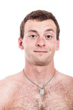 Shirtless man smiling Royalty Free Stock Images