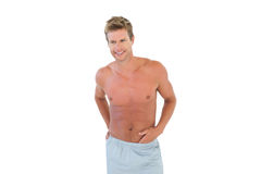 Shirtless man standing Stock Photography