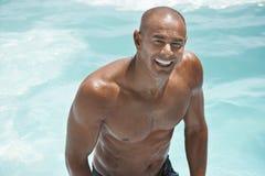 Shirtless Man In Swimming Pool Stock Images