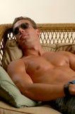 Shirtless mens royalty-vrije stock fotografie