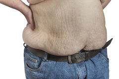 Shirtless overweight Man Royalty Free Stock Photography