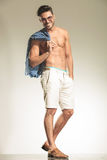Shirtless sexy man posing Stock Images