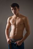 Shirtless young man Stock Photos