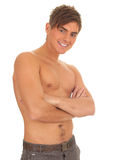 Shirtless young man Royalty Free Stock Image