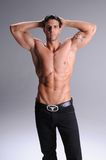 Shirtless young man Stock Photos