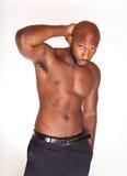 Shirtless Zwarte Mens Stock Foto's