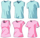 Shirts. Set of the casual wear. Vector illustration Royalty Free Stock Photo