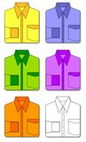 Colorful set of shirts Stock Images