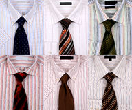 Shirts. Six different shirts with six different ties. Can be used as a backgorund Royalty Free Stock Image