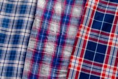 Shirts. Macro from different shirts cotton styles Royalty Free Stock Photo