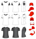 Shirts and baseball caps Royalty Free Stock Images