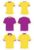 Shirts basic and polo models pink and yellow. Royalty Free Stock Photos