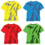 Shirts collection against white Royalty Free Stock Images