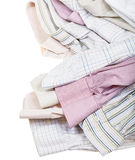 Shirts cuffs and collars close up isolated Stock Photo