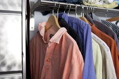 Shirts in different colors Royalty Free Stock Photography
