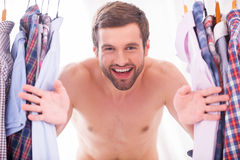 Shirts on every day. Stock Photo
