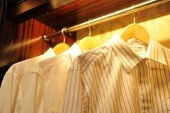 Shirts on hang Royalty Free Stock Photography