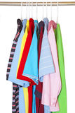 Shirts on hangers Royalty Free Stock Photography