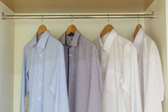 Shirts hanging Stock Photo