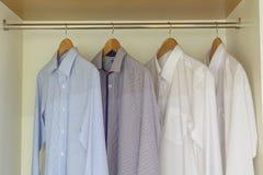 Shirts hanging Stock Photo