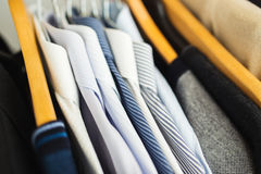 Shirts hanging stack, Stock Image