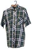 Shirts. man shirts on hangers Royalty Free Stock Image
