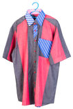 Shirts. man shirts on hangers Stock Photography