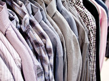 Shirts in a menswear shop Royalty Free Stock Photo