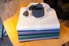 Shirts, necktie and shades Stock Images