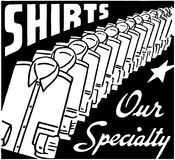 Shirts Our Specialty Stock Image