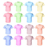 Shirts pale tones Stock Image