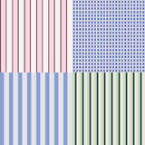 Shirts patterns. Vector collection of 4 graphic shirts patterns - flat classic style. Editable eps file available Stock Images