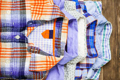 Shirts in pile Royalty Free Stock Photo