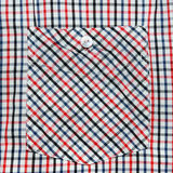Shirts pocket close-up, Checkered. Royalty Free Stock Photos