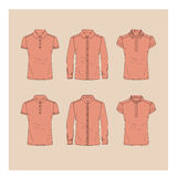 Shirts and polo set for women. Stock Photos