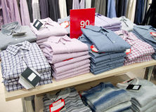 Shirts and pullovers Royalty Free Stock Photo