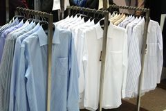 Shirts for sale stock images