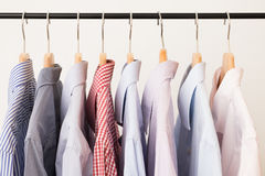 Shirts in several colors Stock Images