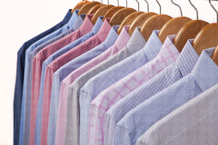 Shirts in several colors and textures Royalty Free Stock Images