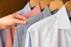 Shirts in several colors and textures Royalty Free Stock Image