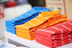 Shirts in a shop Royalty Free Stock Photography