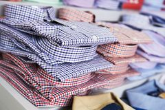 Shirts in a shop Royalty Free Stock Image