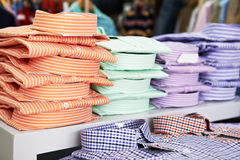 Shirts in a shop Royalty Free Stock Photo
