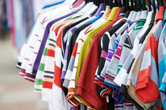 Shirts in shop Royalty Free Stock Photo