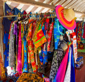 Shirts and shorts for sale in the caribbean Stock Photos
