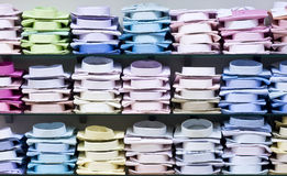Shirts stacked Stock Images