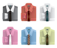 Shirts and ties Stock Photography