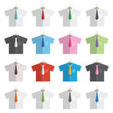 Shirts and ties Royalty Free Stock Images