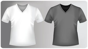 Shirts with triangle collars. Stock Photos