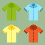 Shirts for your design in flat style. Stock Images